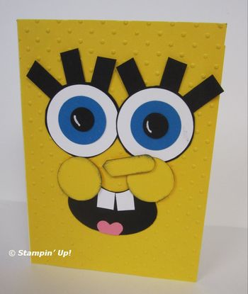 Punch art sponge bob