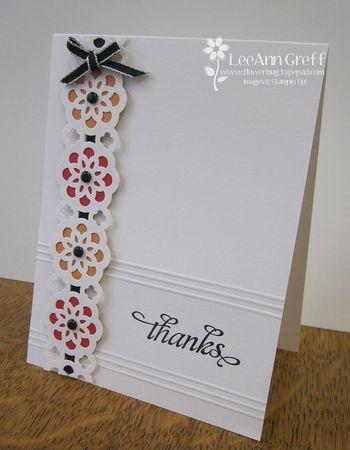 Lace ribbon border card