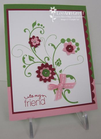 Flowering Flourishes pink green