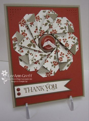 Punch art tag flower card
