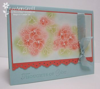 Jan technique highlighted embossing card