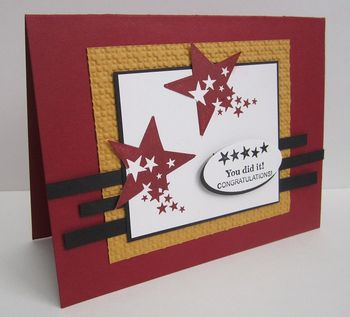 March Paper piecing outside the lines card