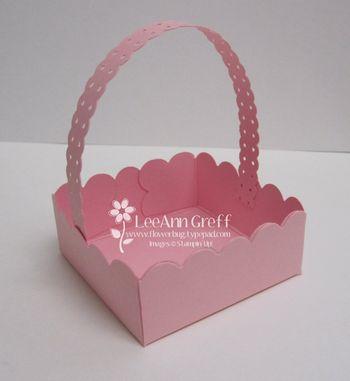 Punch art small basket