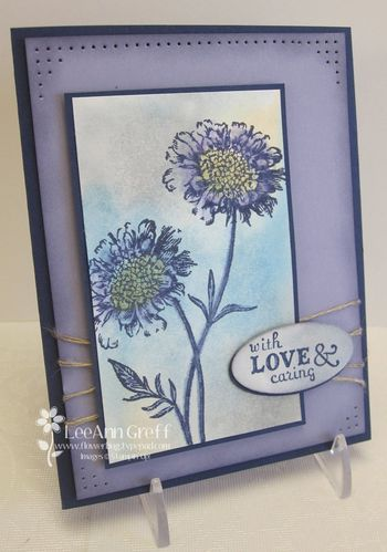 April Distressed Wash card