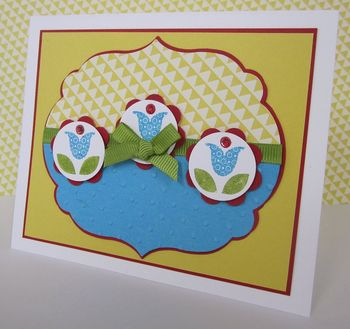 Bright blossoms blog hop card