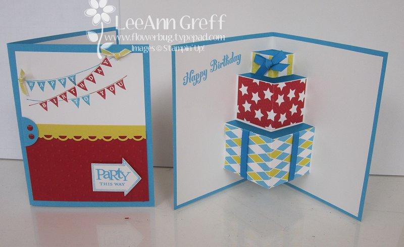 Fun pop up birthday card tutorial flowerbugs inkspot may birthday pop up 2 m4hsunfo