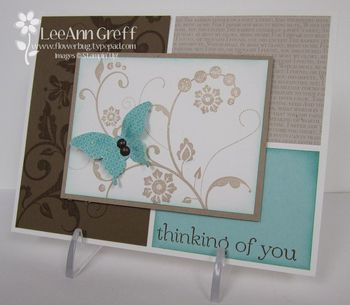 Flowering flourishes butterfly card
