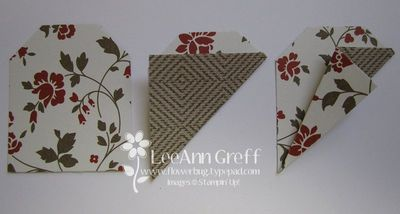 Punch art tag flower fold