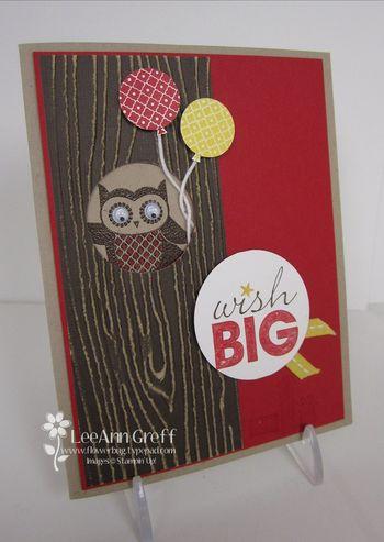 August Owl birthday club card