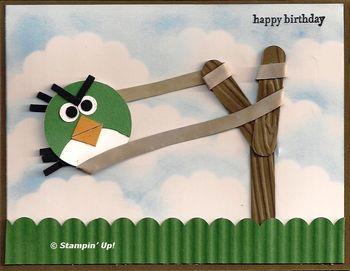 Punch art green angry bird