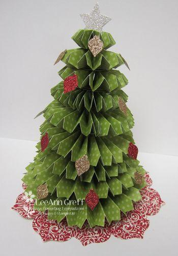 rosette christmas tree tutorial