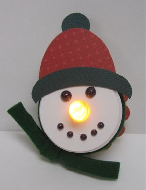 Judy's snowman light