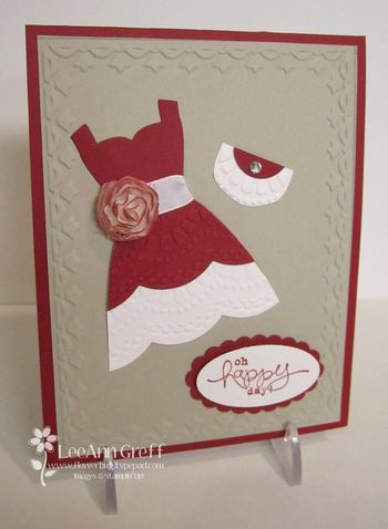 Dress up card front