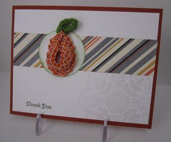 Sarah's Woven pumpkin card