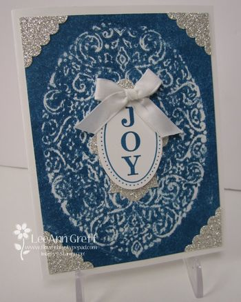 Oct crayon embossed card