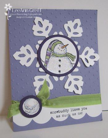 Xmas sas #4 snowman card