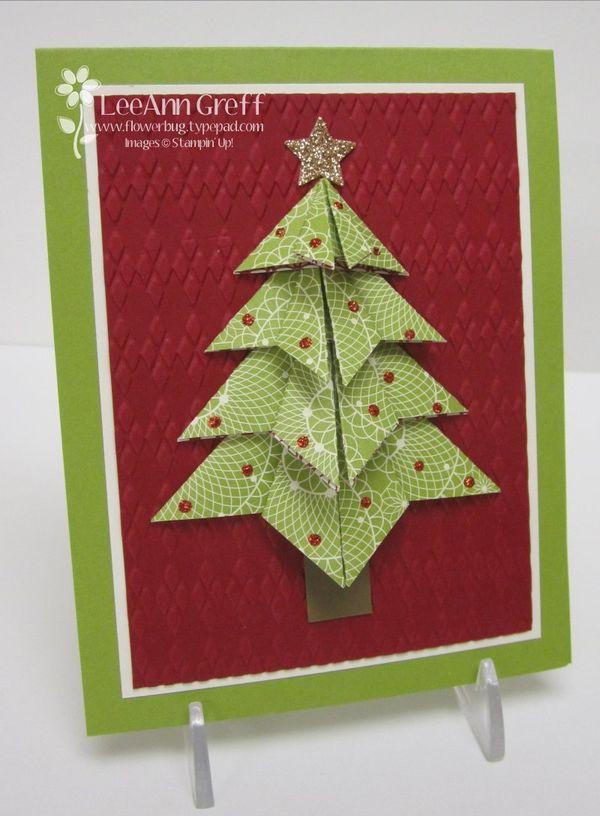 origami christmas tree flowerbugs inkspot - How To Make An Origami Christmas Tree