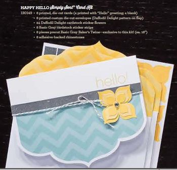 Happy Hello cards kit