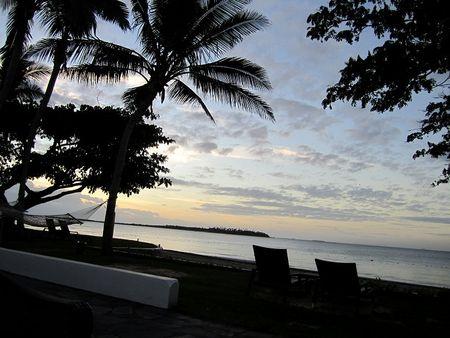 Fiji beach front