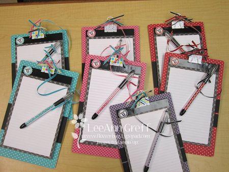 Hostess notebooks