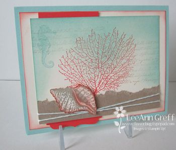 By the Tide coral card