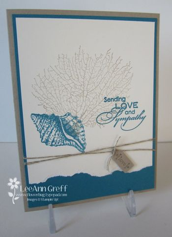 By the tide sympathy card