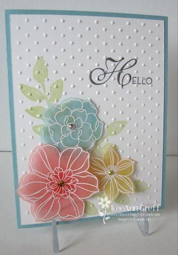 April secret garden club card