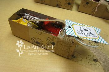 Convention treat box & tag