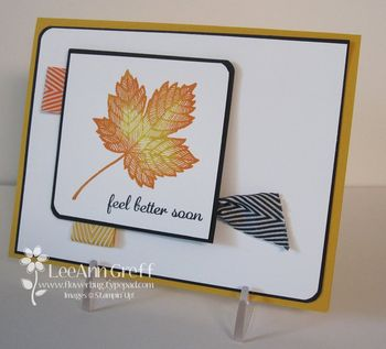 Maple ribbon card