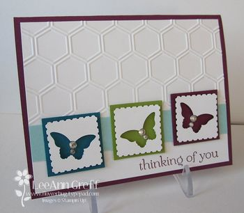 Melissa's workshop butterfly card