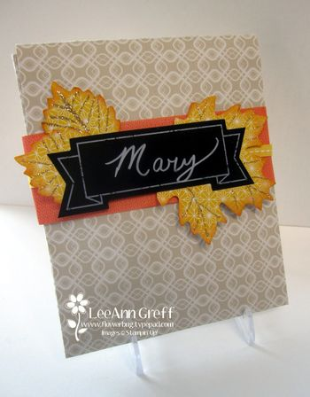 Thanksgiving card pocket
