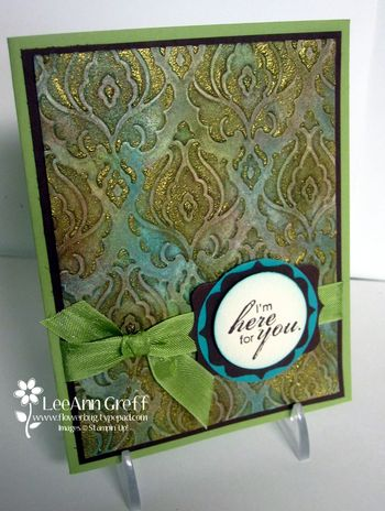 Nov faux patina card