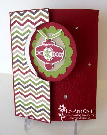 Nov Club flip ornament card