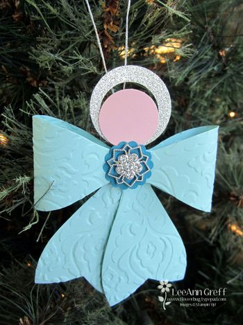 Bow angel ornament