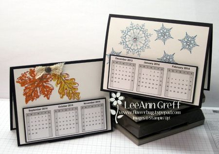 Dec calendar card winter fall