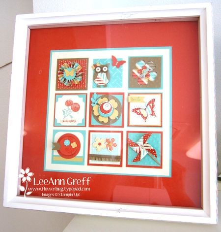 Spring Sampler framed