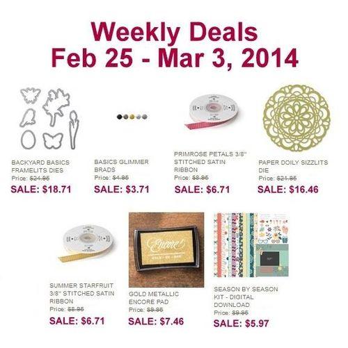 Weekly deals Feb 25th