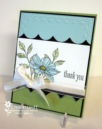 Peaceful Petals blue & green