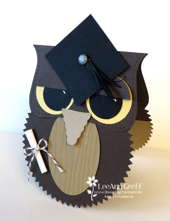April Grad Owl card