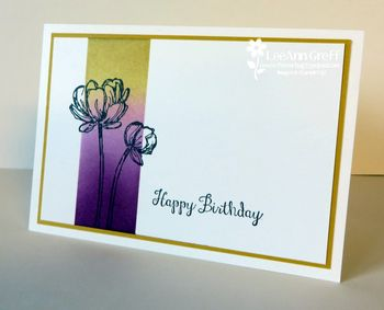 Bloom with hope sponged card