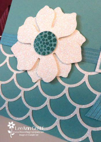Pat's glimmer flower swap closeup