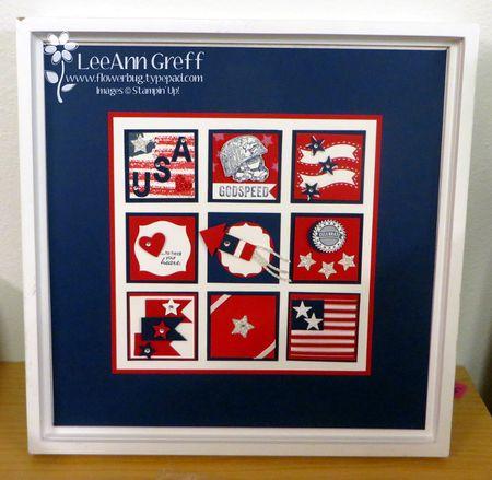 Patriotic sampler frame