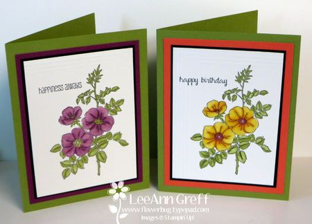 Sweet briar rose cards