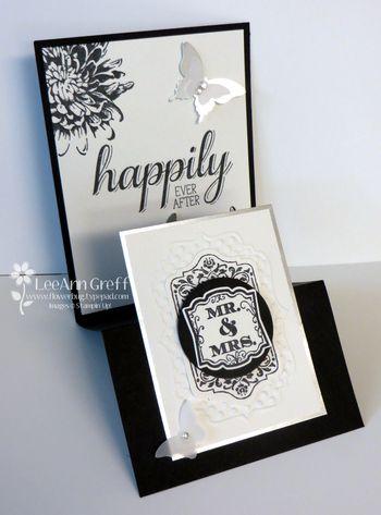 July club wedding card side view
