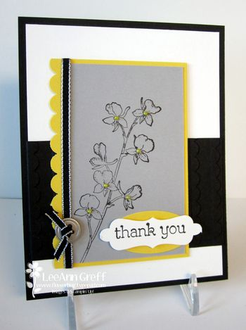 Happy Watercolor swap black, gray & Daffodil