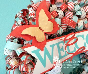 Retro fresh butterfly wreath