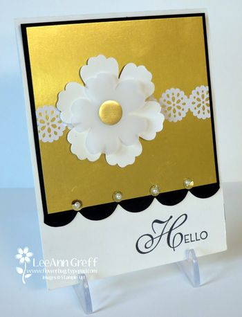 Gold Foil flower hello