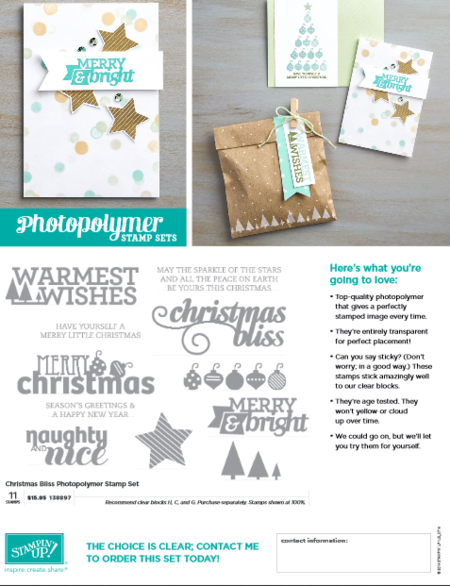 Christmas bliss flyer