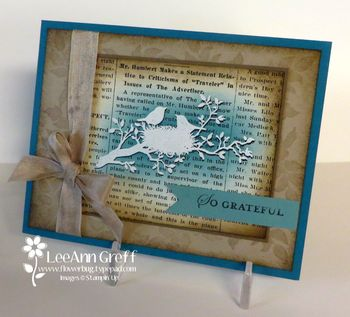 August Shadowed embossing card