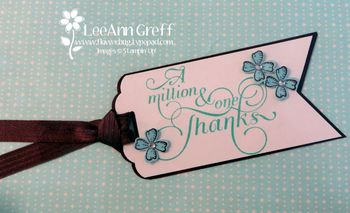 Hostess gift tag